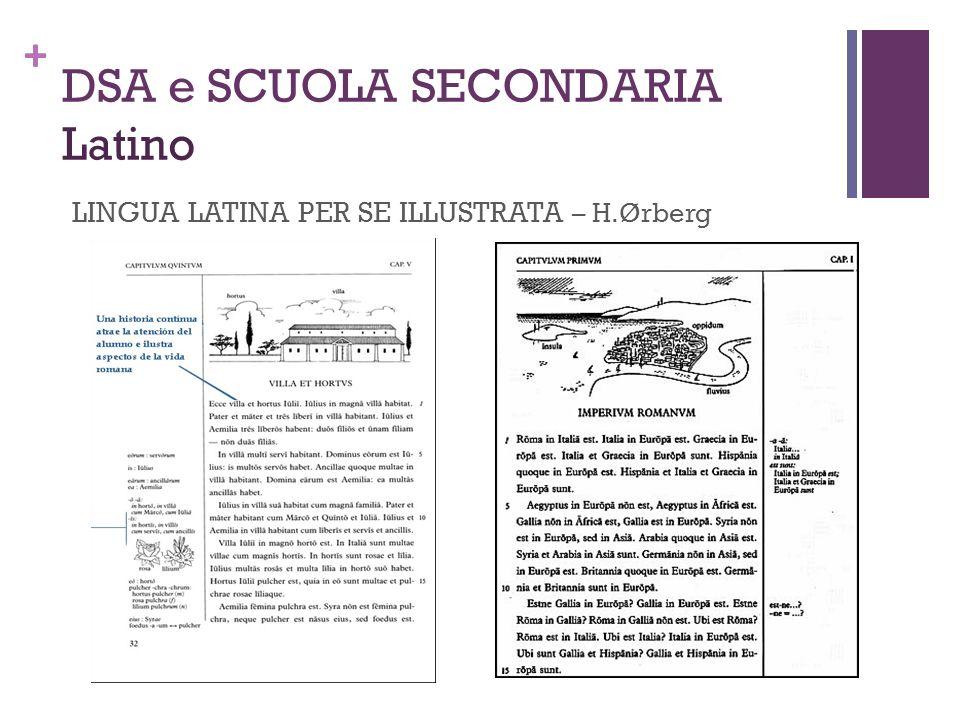DSA e SCUOLA SECONDARIA Latino