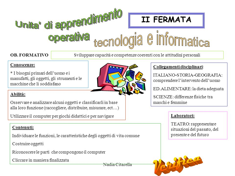 Verifica Unita di apprendimento operativa II FERMATA
