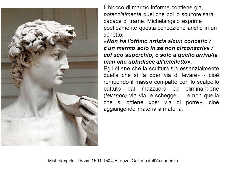 Michelangelo, David, 1501-1504, Firenze, Galleria dell'Accademia