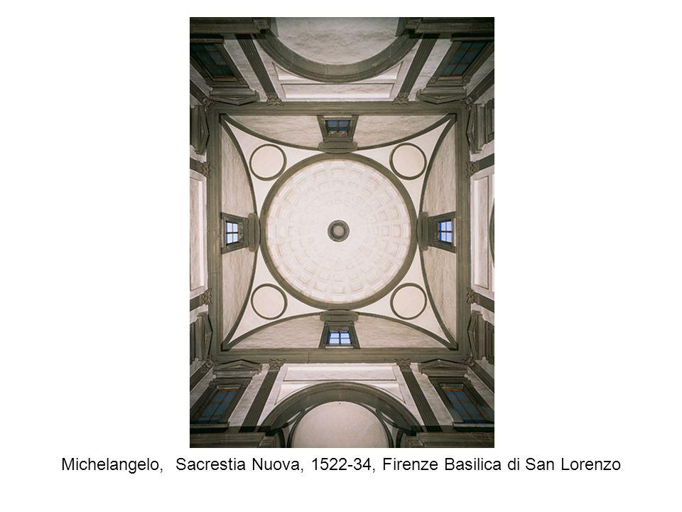 Michelangelo, Sacrestia Nuova, 1522-34, Firenze Basilica di San Lorenzo