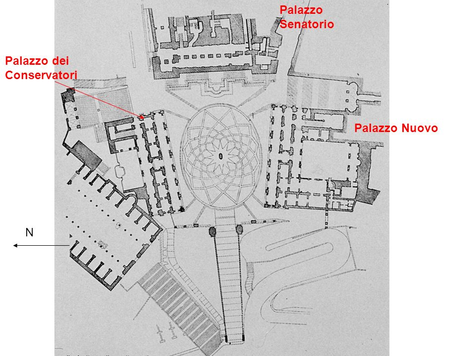 Palazzo Senatorio Palazzo dei Conservatori Palazzo Nuovo N