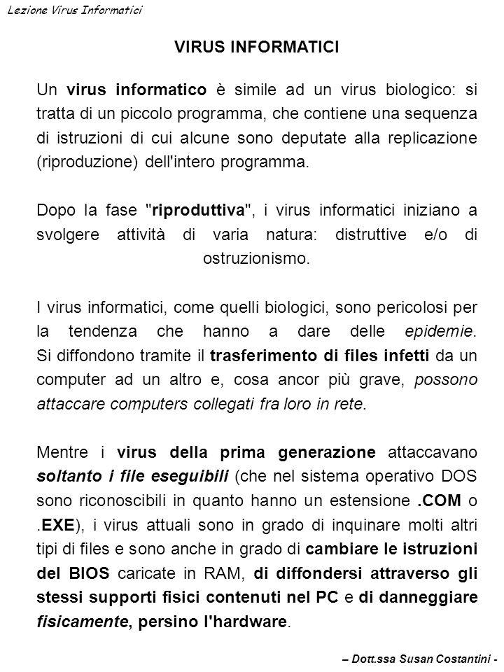 Lezione Virus Informatici