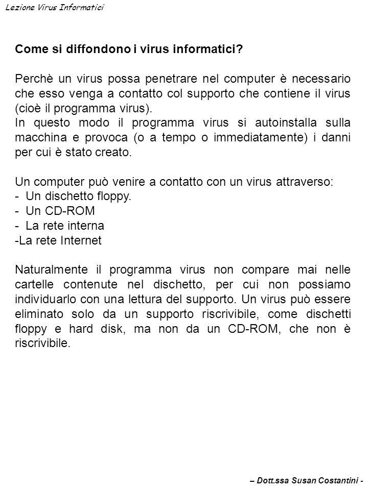 Come si diffondono i virus informatici