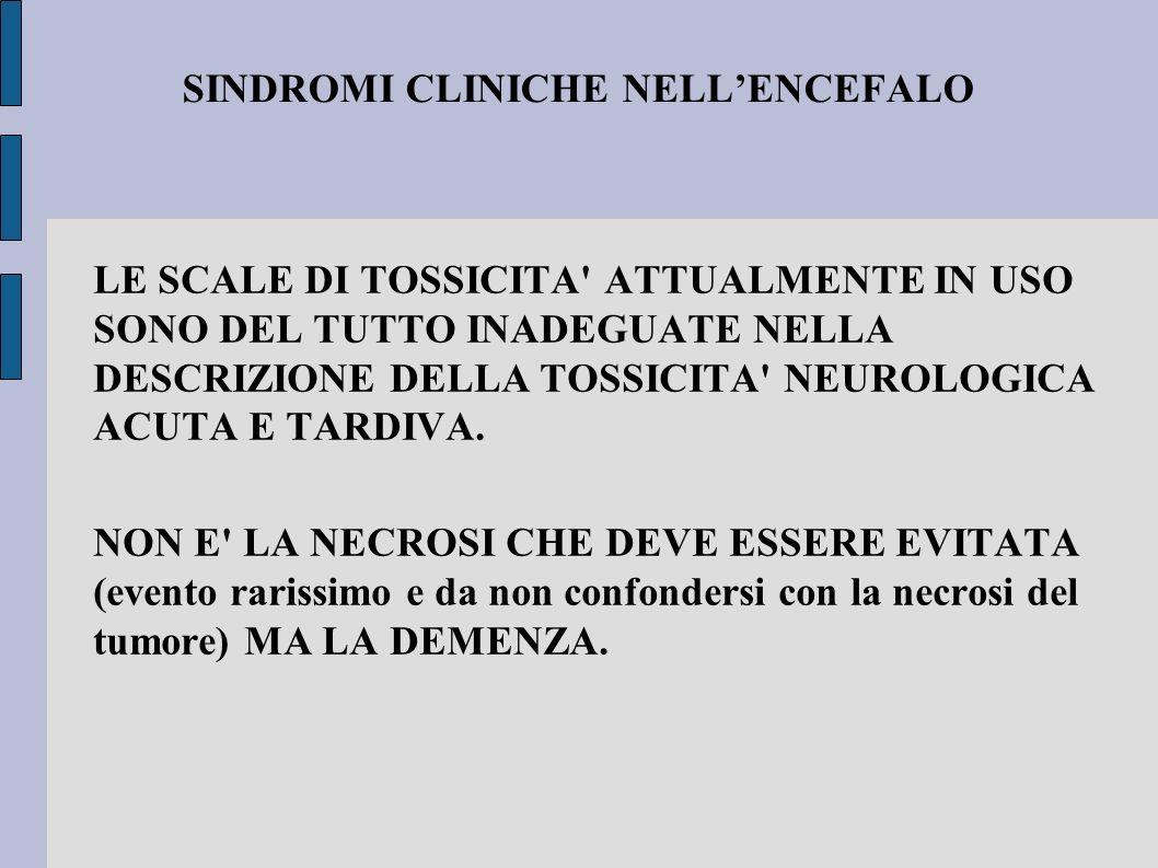 SINDROMI CLINICHE NELL'ENCEFALO