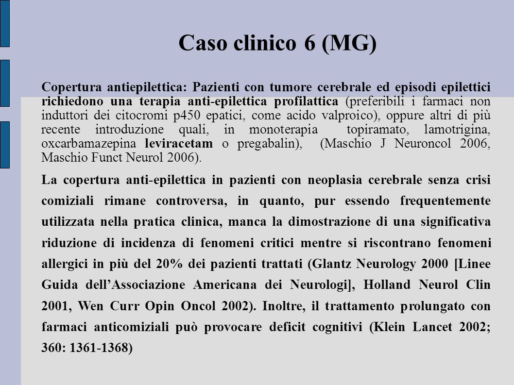 Caso clinico 6 (MG)