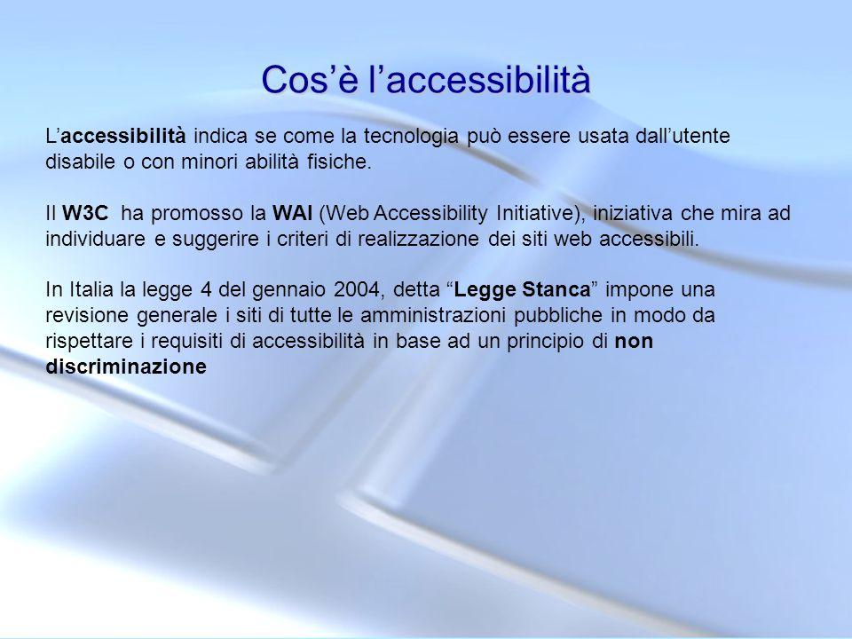Cos'è l'accessibilità