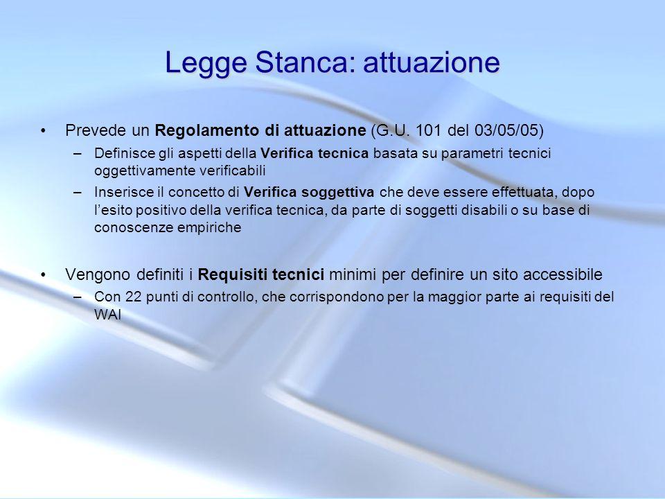 Legge Stanca: attuazione