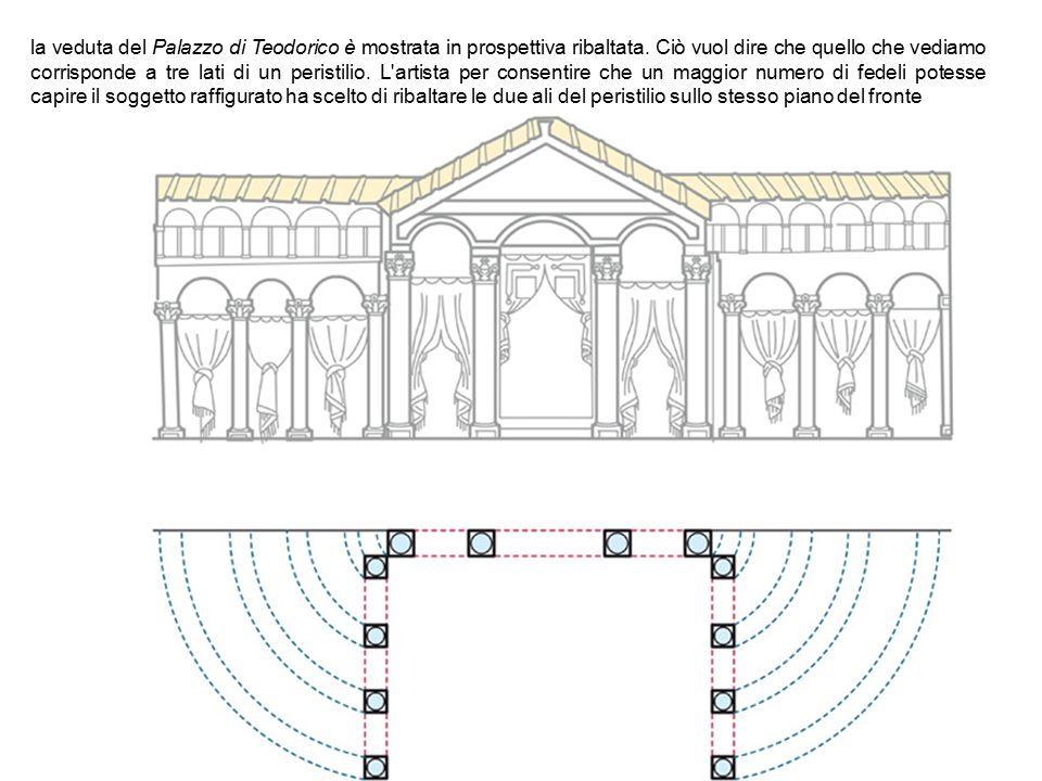 la veduta del Palazzo di Teodorico è mostrata in prospettiva ribaltata