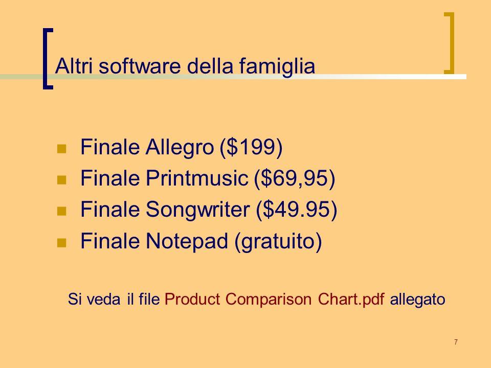 Altri software della famiglia