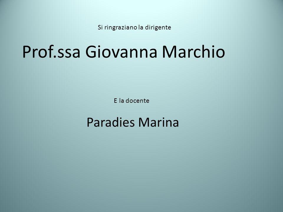 Prof.ssa Giovanna Marchio
