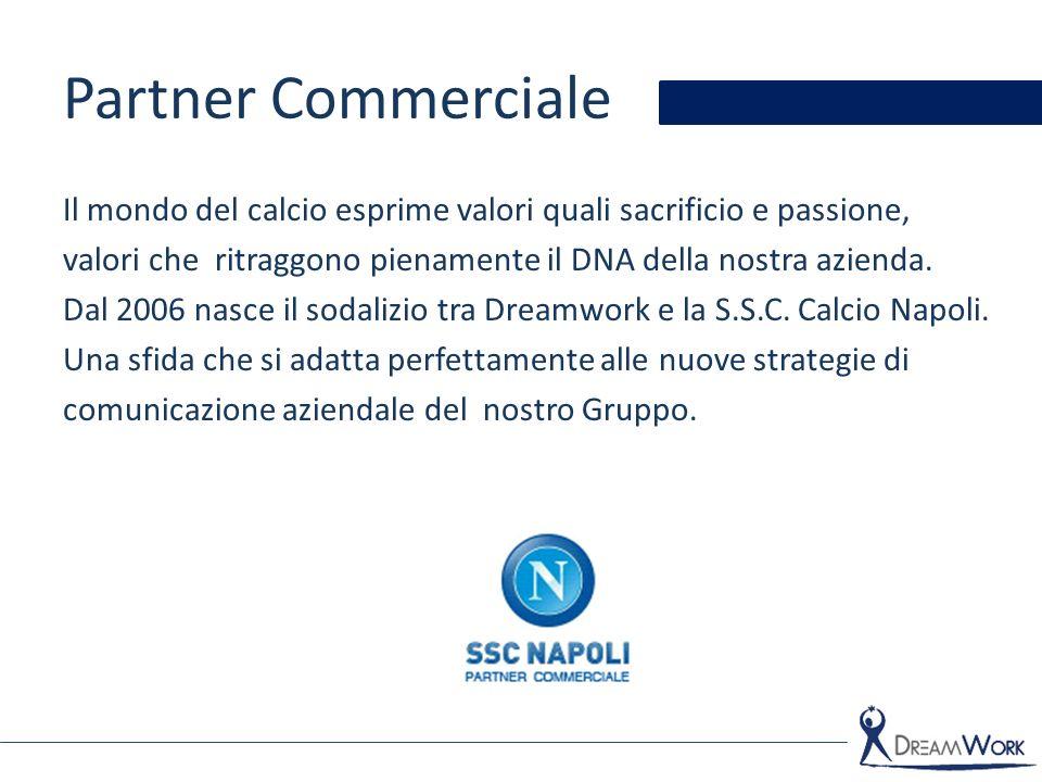 Partner Commerciale Il mondo del calcio esprime valori quali sacrificio e passione, valori che ritraggono pienamente il DNA della nostra azienda.