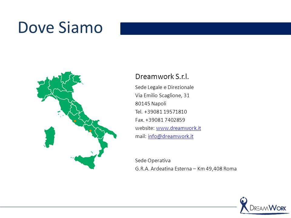 Dove Siamo Dreamwork S.r.l. Sede Legale e Direzionale
