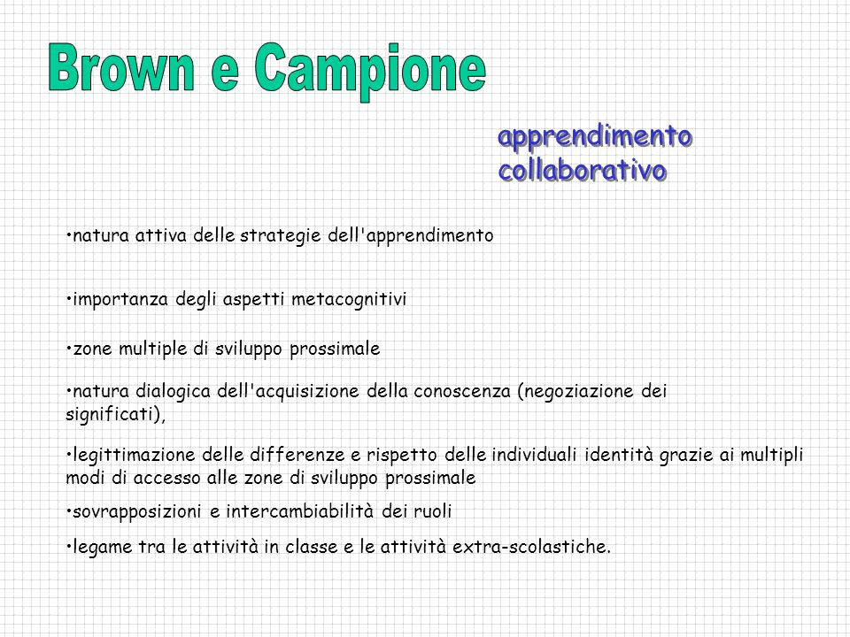 Brown e Campione apprendimento collaborativo