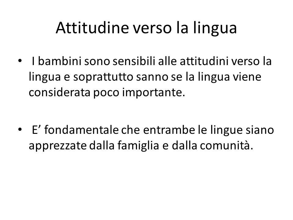 Attitudine verso la lingua