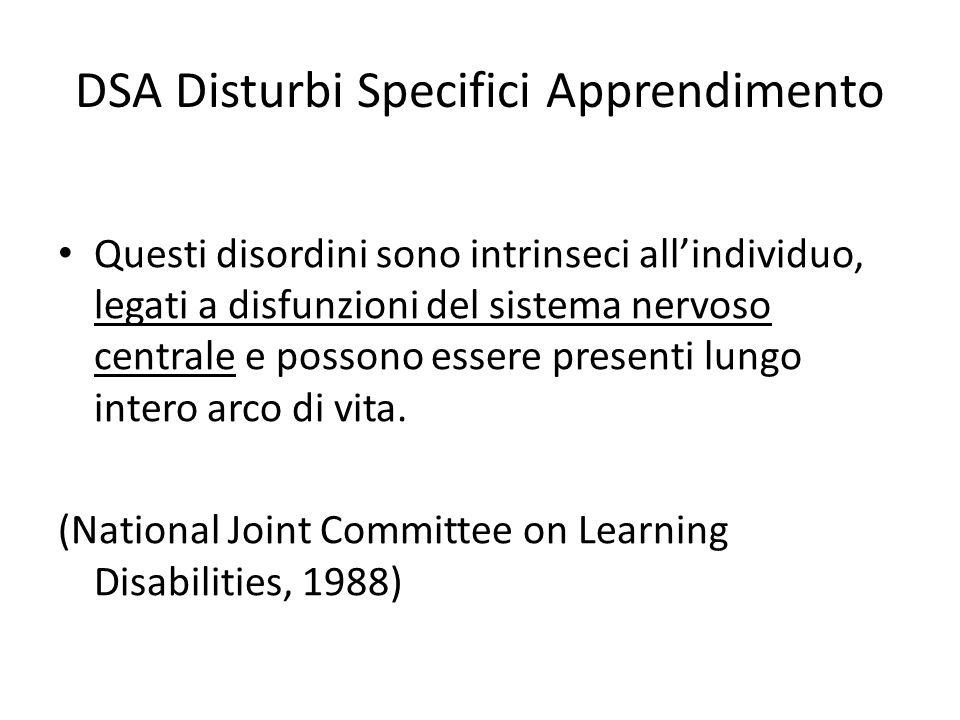 DSA Disturbi Specifici Apprendimento