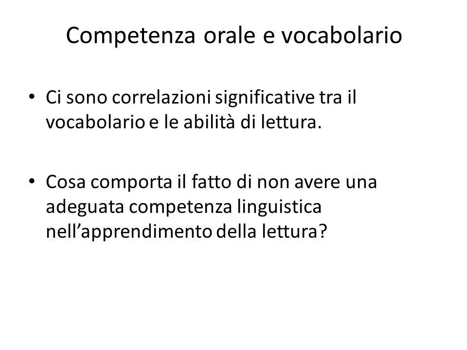 Competenza orale e vocabolario