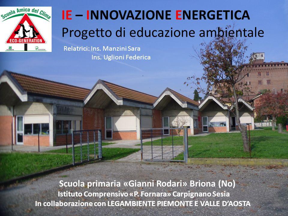 IE – INNOVAZIONE ENERGETICA Progetto di educazione ambientale