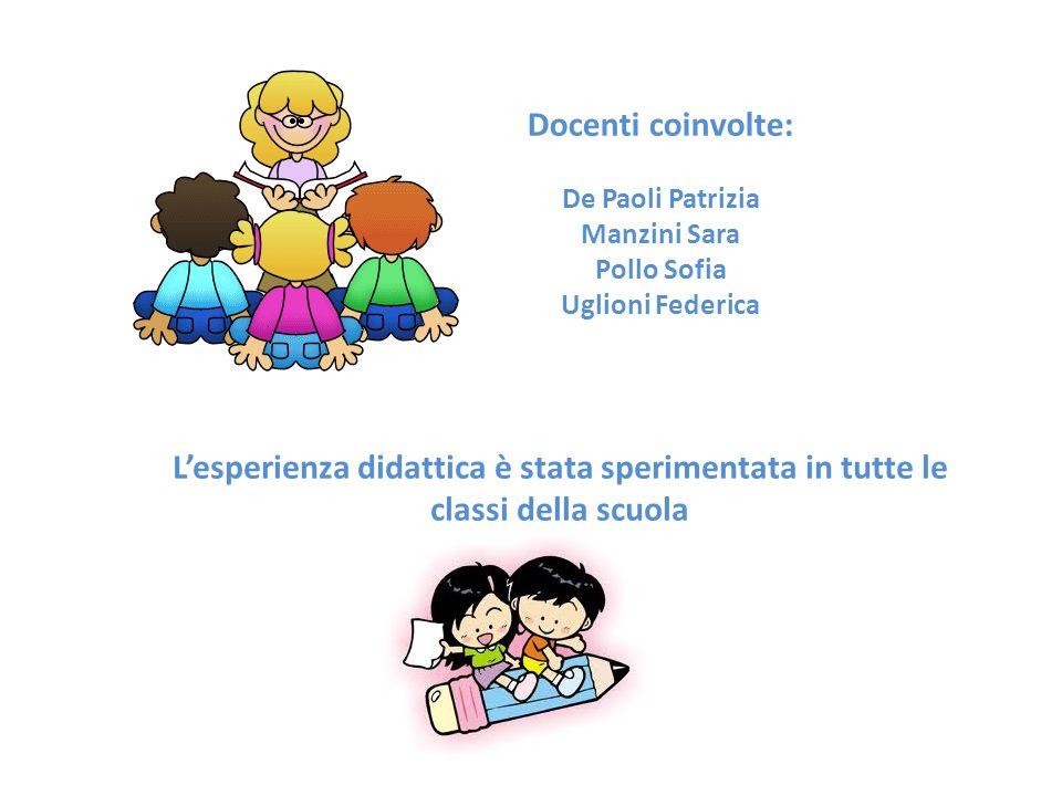 Docenti coinvolte: De Paoli Patrizia. Manzini Sara. Pollo Sofia. Uglioni Federica.