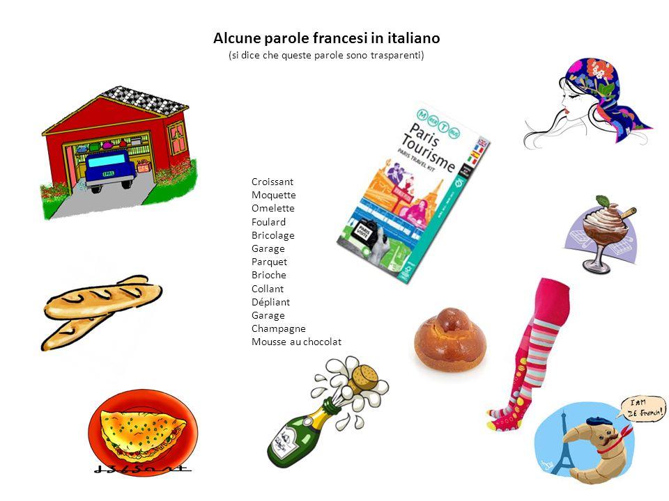 Alcune parole francesi in italiano