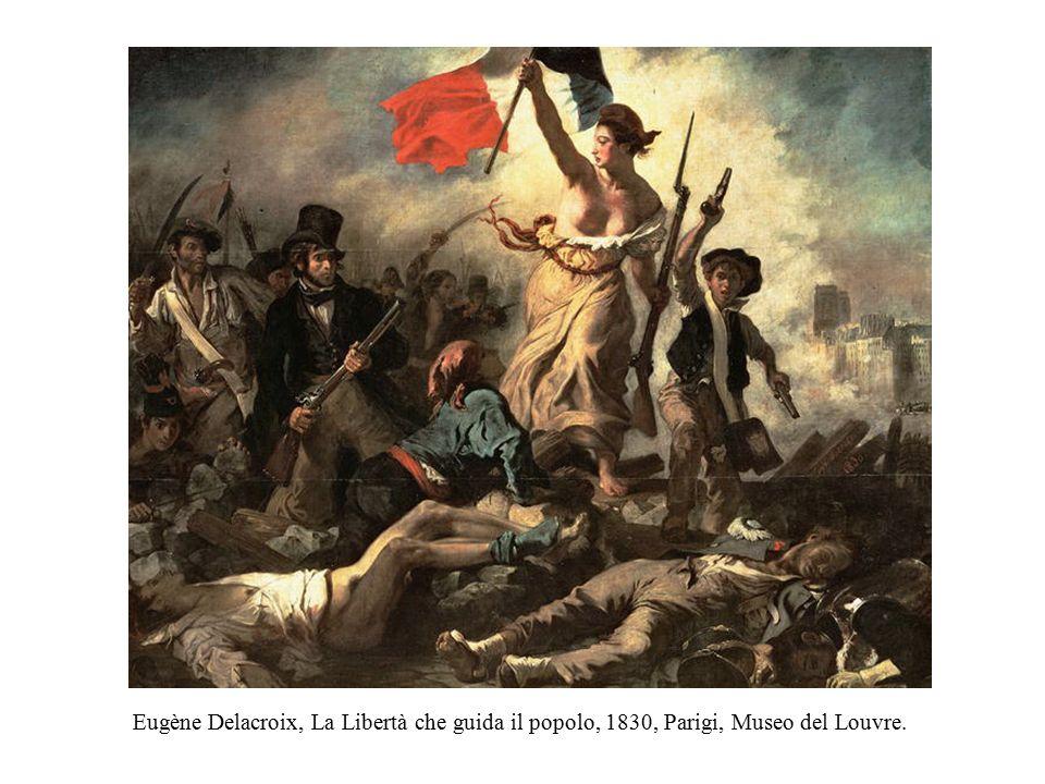 Eugène Delacroix, La Libertà che guida il popolo, 1830, Parigi, Museo del Louvre.