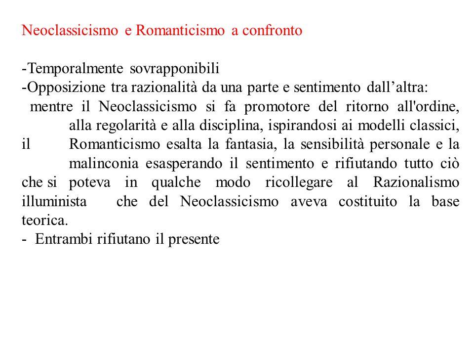 Neoclassicismo e Romanticismo a confronto