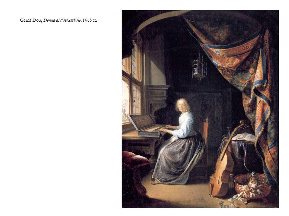 Gerrit Dou, Donna al clavicembalo, 1665 ca