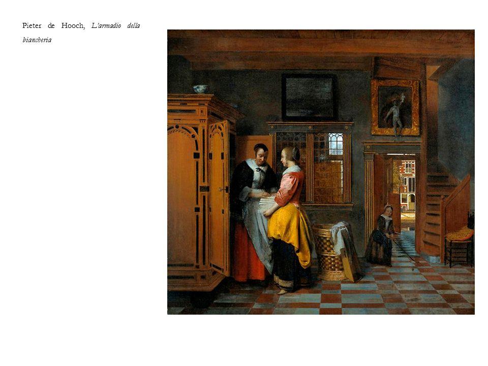 Pieter de Hooch, L'armadio della biancheria