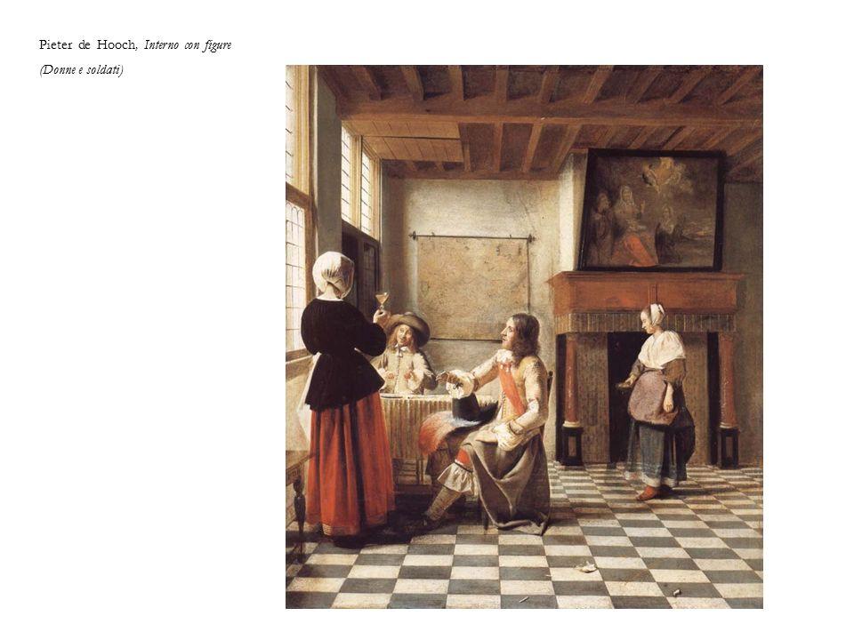 Pieter de Hooch, Interno con figure (Donne e soldati)