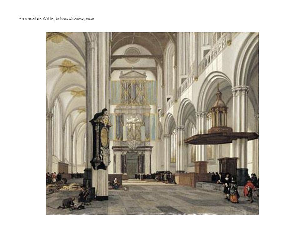Emanuel de Witte, Interno di chiesa gotica