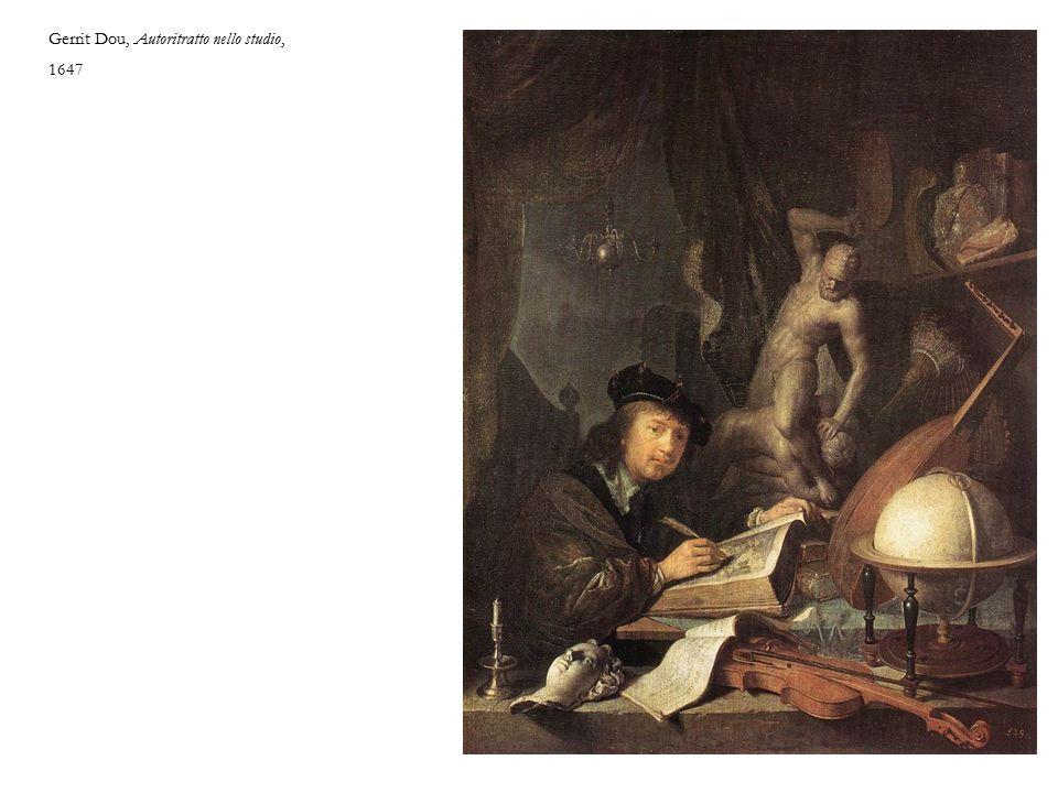 Gerrit Dou, Autoritratto nello studio, 1647