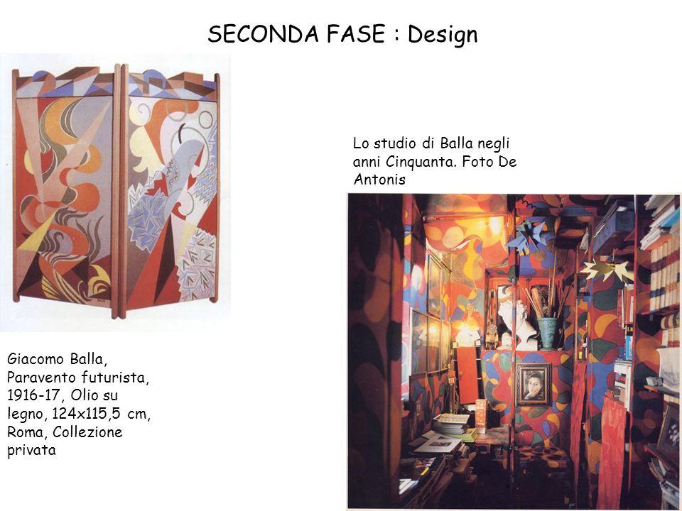 SECONDA FASE : Design Lo studio di Balla negli anni Cinquanta. Foto De Antonis.