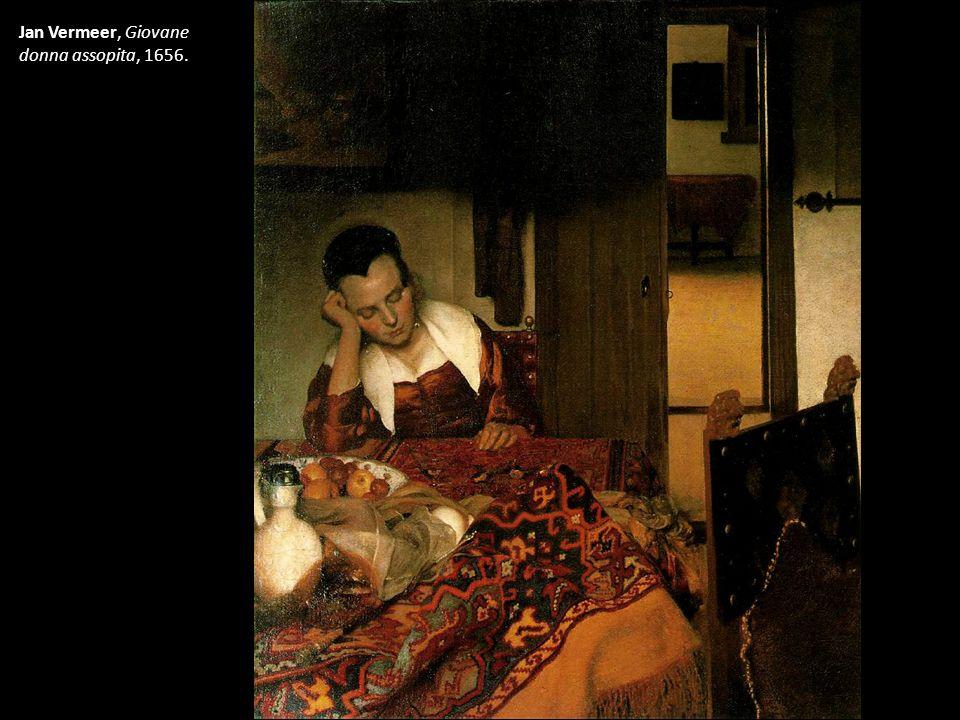 Jan Vermeer, Giovane donna assopita, 1656.