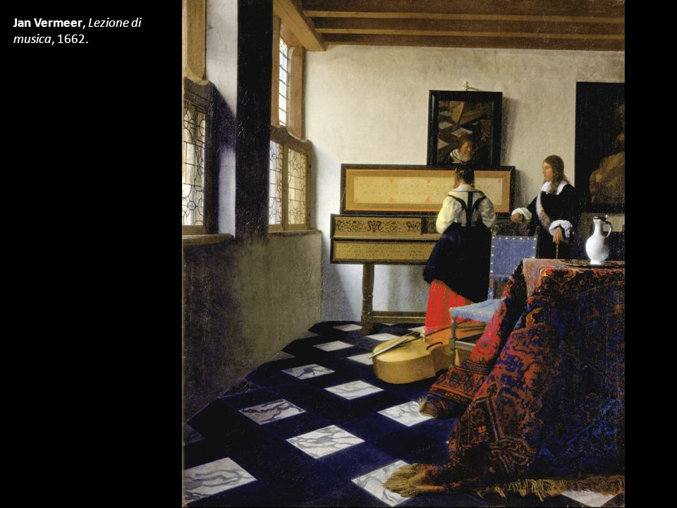 Jan Vermeer, Lezione di musica, 1662.