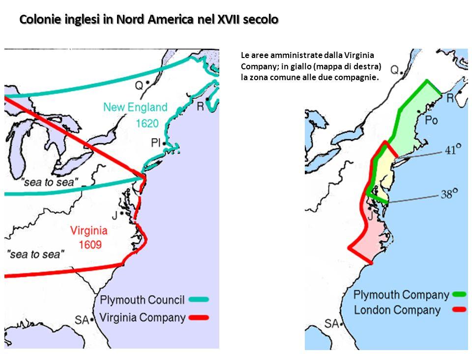 Colonie inglesi in Nord America nel XVII secolo