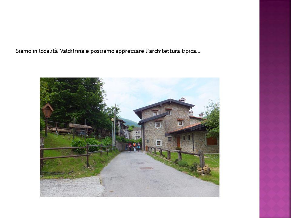 Siamo in località Valdifrina e possiamo apprezzare l'architettura tipica…