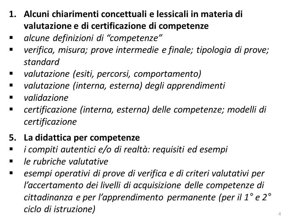 alcune definizioni di competenze