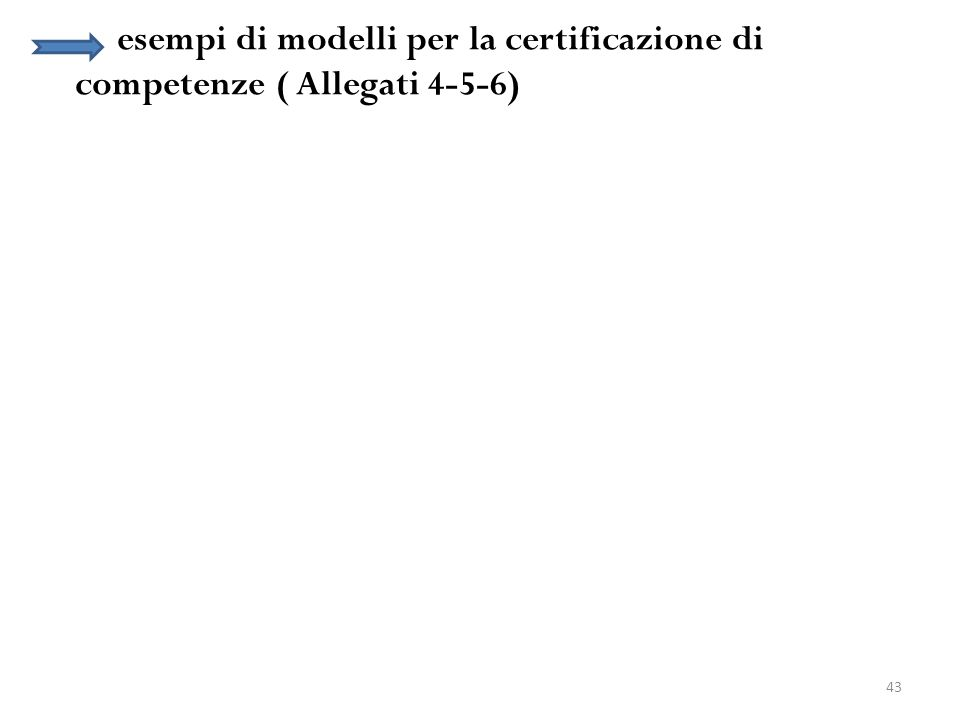 esempi di modelli per la certificazione di competenze ( Allegati 4-5-6)
