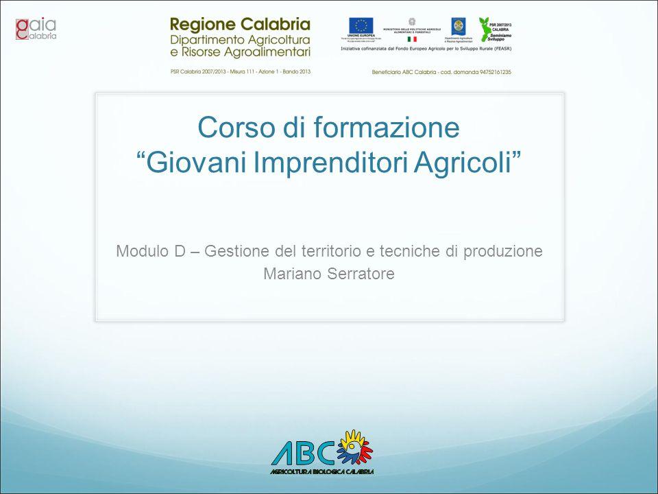 Corso di formazione Giovani Imprenditori Agricoli