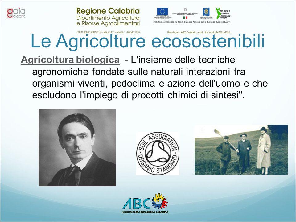Le Agricolture ecosostenibili