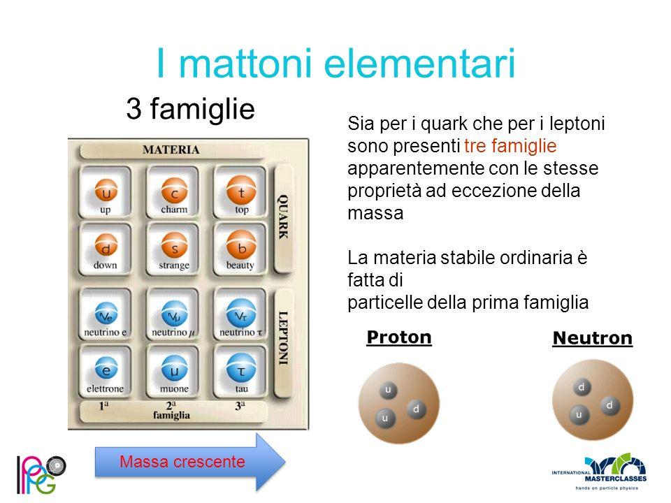 I mattoni elementari 3 famiglie