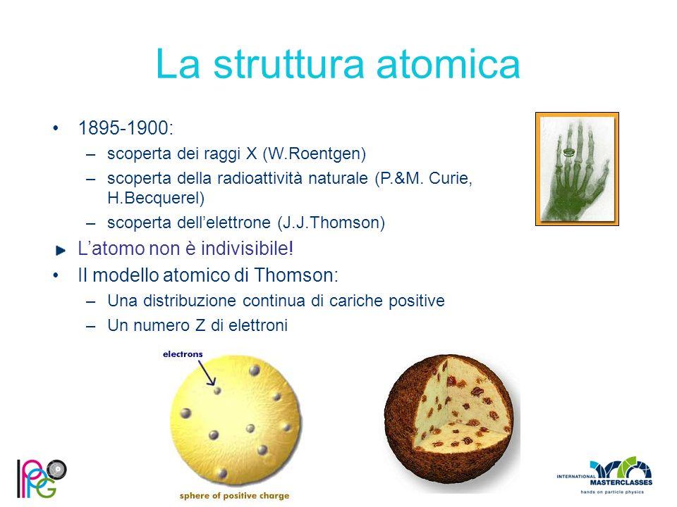 La struttura atomica 1895-1900: L'atomo non è indivisibile!