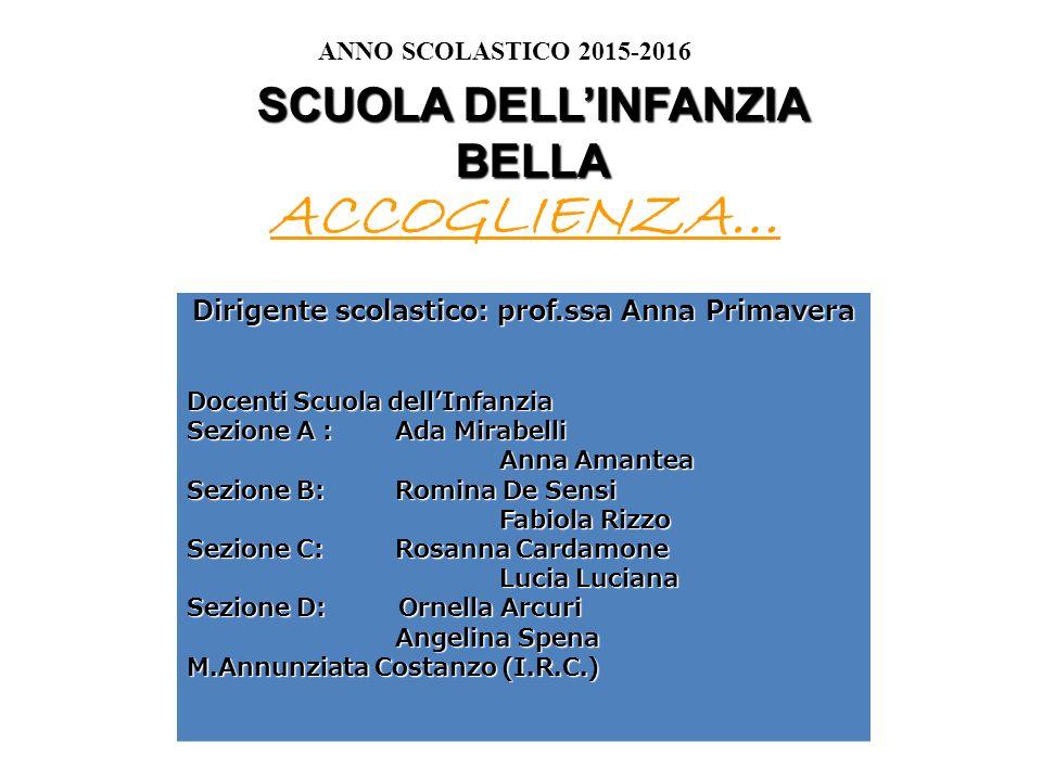 Dirigente scolastico: prof.ssa Anna Primavera