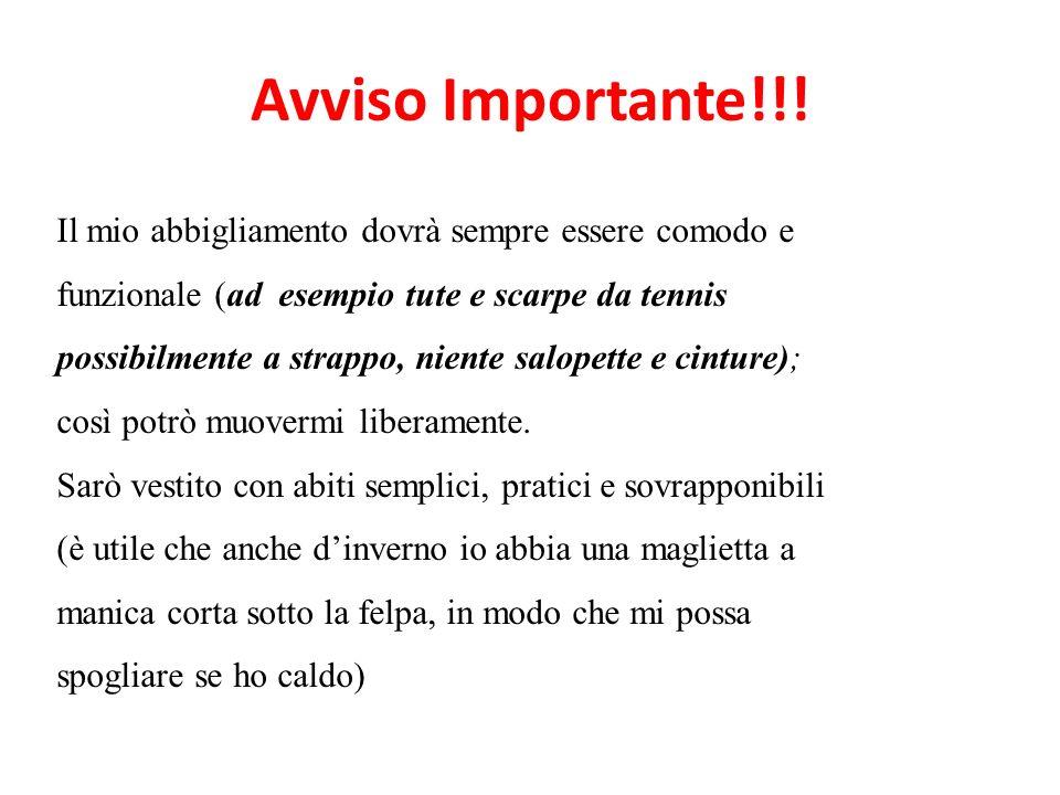 Avviso Importante!!!