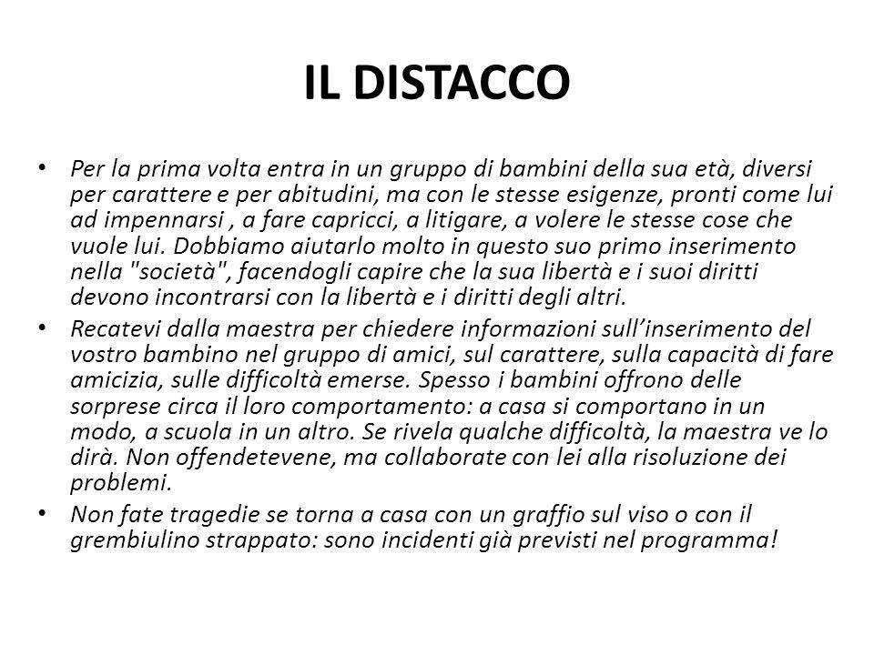 IL DISTACCO