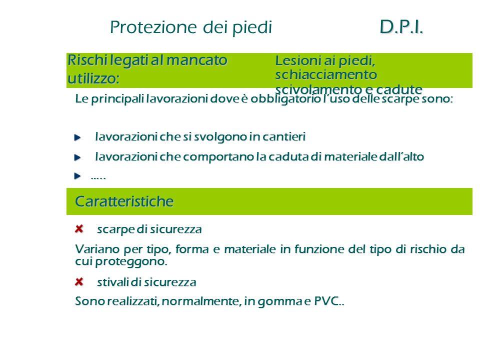 Protezione dei piedi D.P.I.