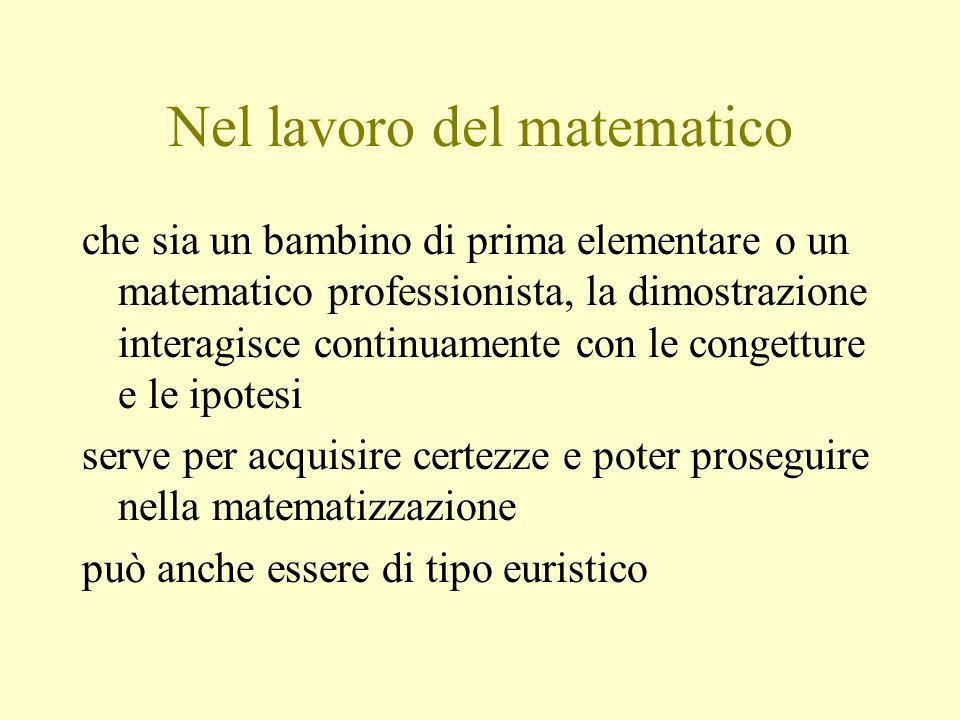 Nel lavoro del matematico