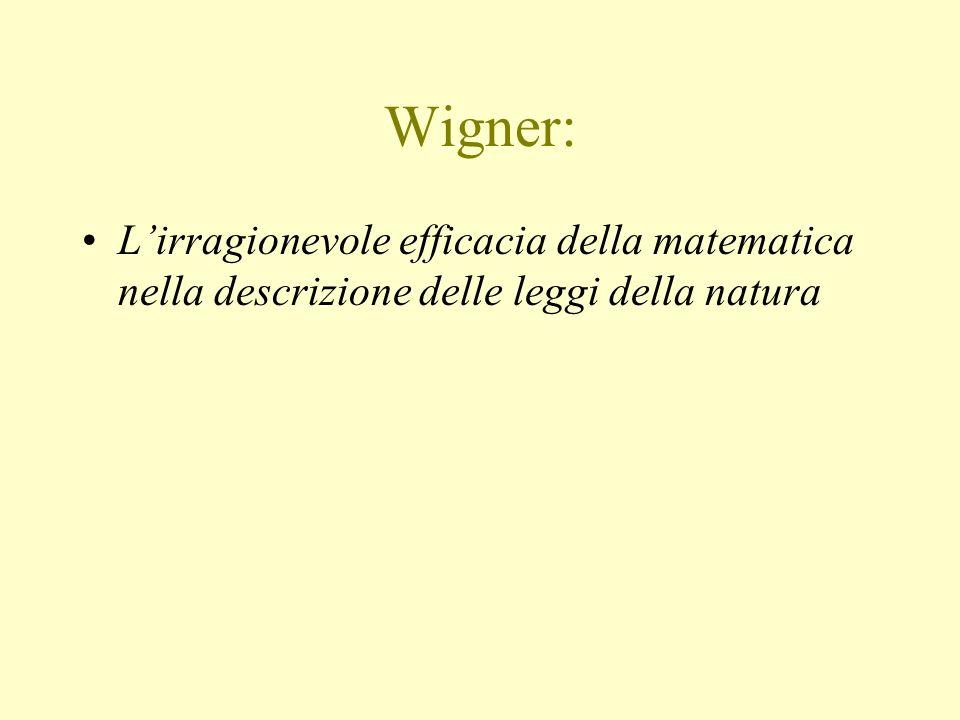 Wigner: L'irragionevole efficacia della matematica nella descrizione delle leggi della natura