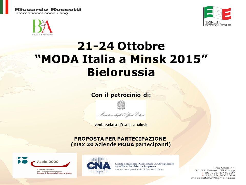 21-24 Ottobre MODA Italia a Minsk 2015 Bielorussia