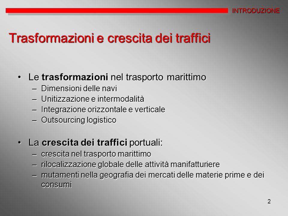 Trasformazioni e crescita dei traffici