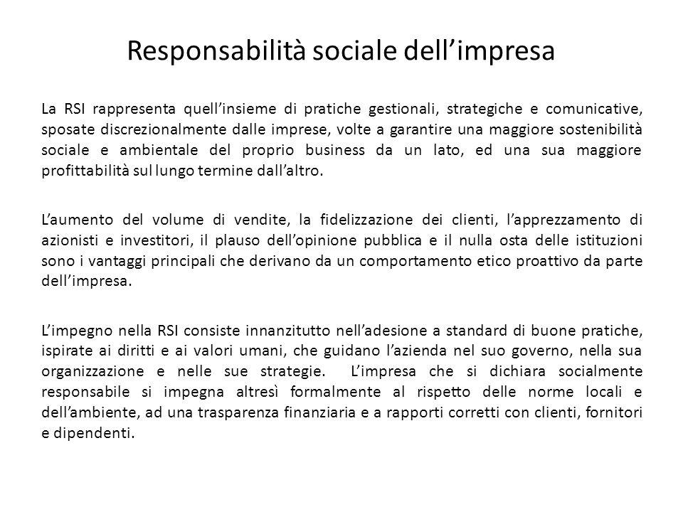 Responsabilità sociale dell'impresa